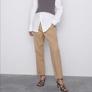Zara High Waisted Pants with Darts